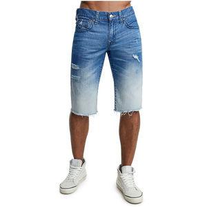 True Religion Men's Cut-Off Jean Shorts